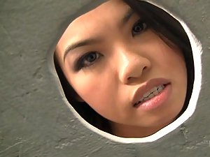 Gloryhole fun with hot Asian